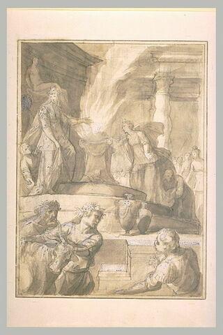 Hyante et Climène offrent un sacrifice à Vénus