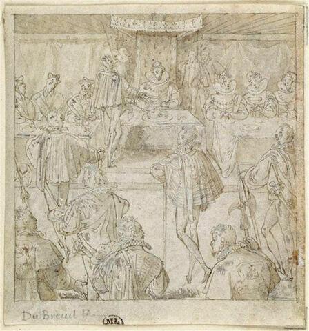 Banquet de l'Ordre du Saint-Esprit présidé par le roi