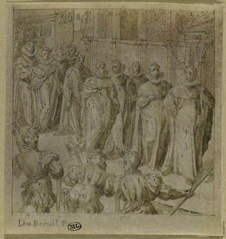 Procession de dignitaires de l'Ordre du Saint-Esprit