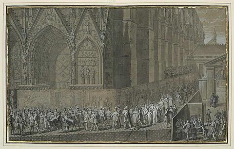 Louis XV, allant à l'église pour son sacre