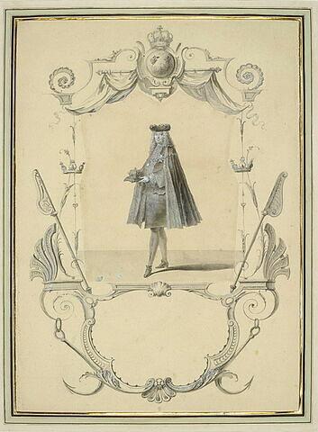 Un maréchal de France portant les honneurs