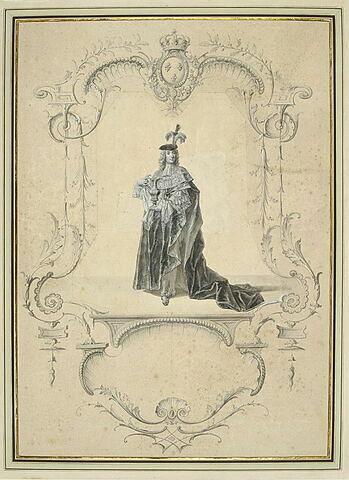 Un chevalier des Ordres du Roi portant les offrandes