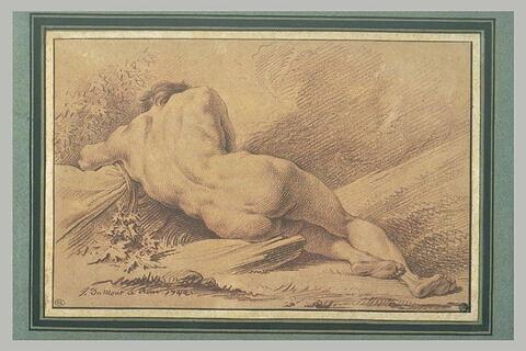 Homme nu couché vu de dos