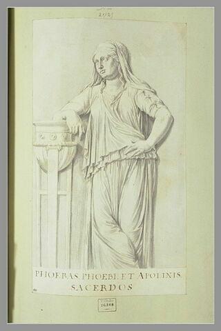 Phoebé, prêtresse d'Apollon, d'après un bas bas-relief d'après antique