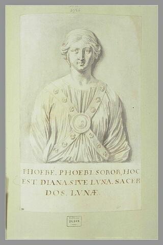 Prêtresse de la lune, d'après un bas-relief antique