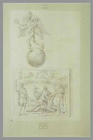Mercure entouré du zodiaque ; Mithra sacrifiant le taureau