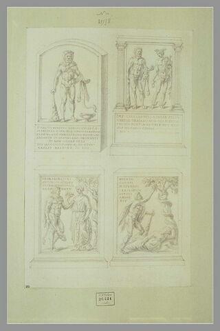 Quatre monuments votifs dédiés à Hercule