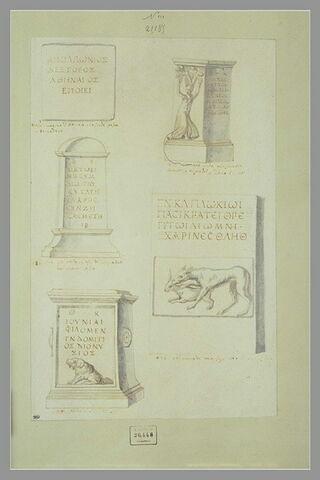 Une inscription grecque et trois monuments funéraires