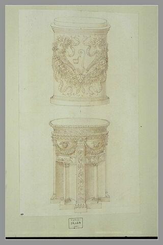 Deux autels ornés