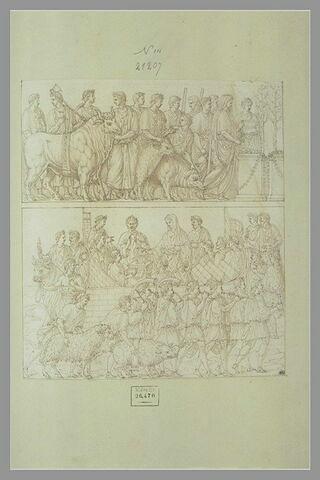 Deux bas-reliefs représentant des sacrifices
