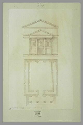 Temple : élévation et plan
