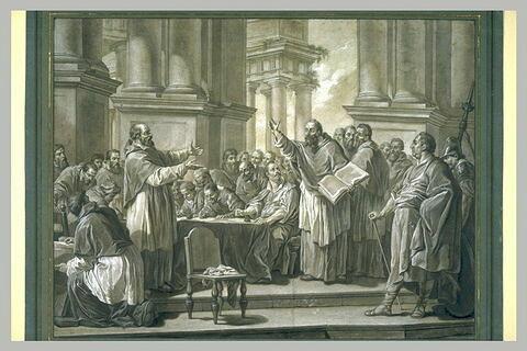 Saint Augustin disputant contre les donatistes au Concile de Carthage