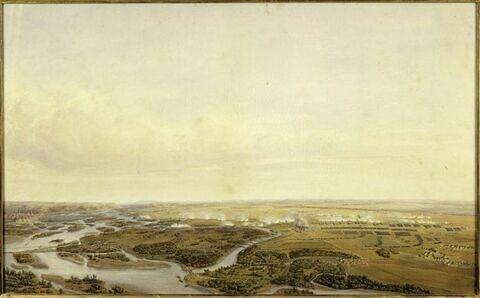 Bataille de Wagram, 5 juillet 1809 à huit heures du matin, première journée