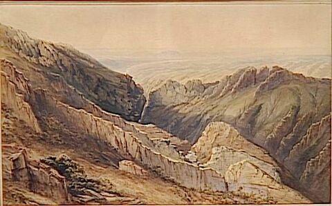 Vue générale des Bibans ou Portes-de-Fer le 28 octobre 1839