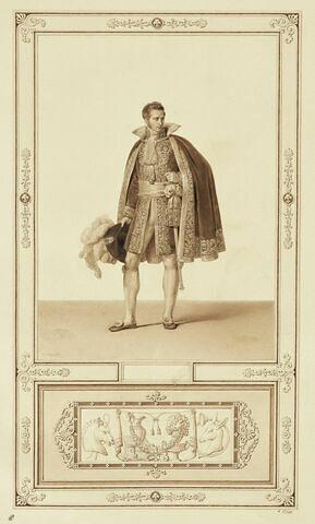 Sacre de Charles X : Un officier de la Maison du Roi