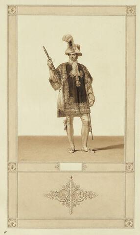 Sacre de Charles X : héraut d'armes