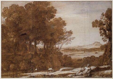 Paysage avec Apollon et les Muses sur le Mont Parnasse