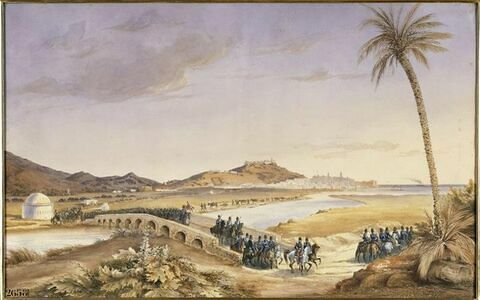 Vue de Bône, départ de l'expédition pour Constantine, 27 septembre 1837