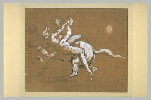 Un centaure enlevant une nymphe