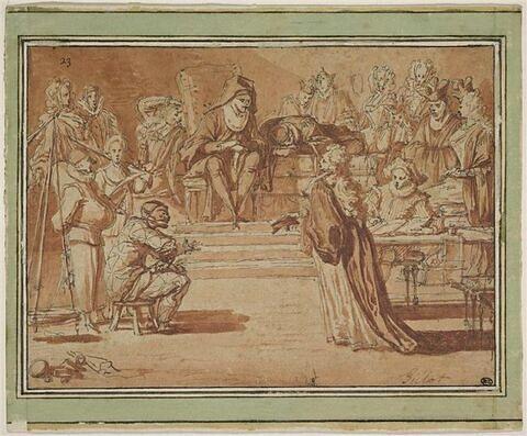 Scène de la Comédie Italienne