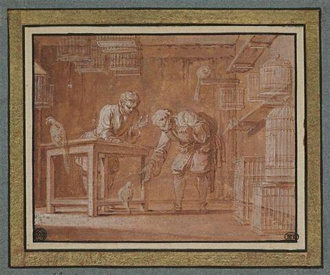 Boutique d'oiselier : le perroquet (livre I, fable III)