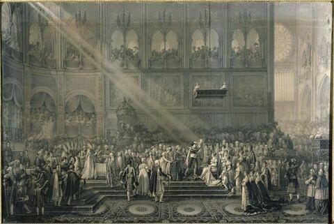 Le baptême du roi de Rome à Notre-Dame le 10 juin 1811