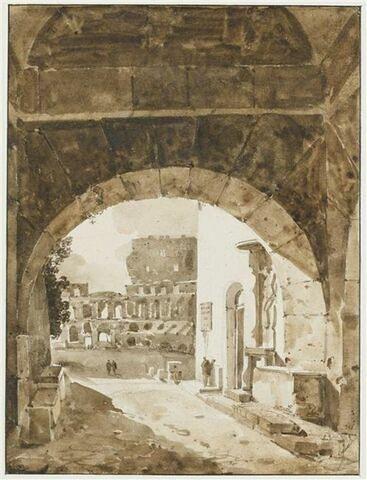 Vue du Colisée, du côté de Saint-Jean-de-Latran