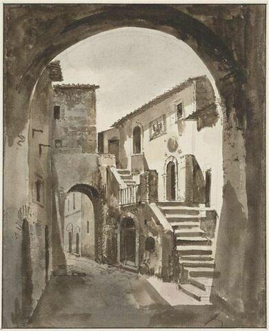 Vue d'une rue de Corchiano près de Civita Castellana