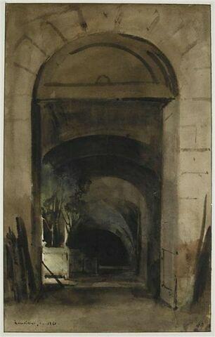 Vue intérieure de l'Orangerie de Versailles, 1841