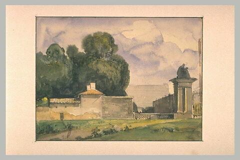 La grille de l'Orangerie de Versailles, 1841