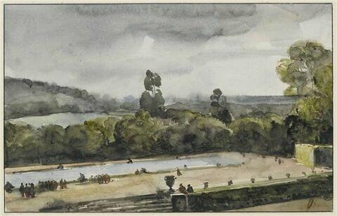 Vue du parc du château de Versailles