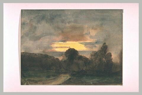 Lisière des bois de Versailles, effet du soir