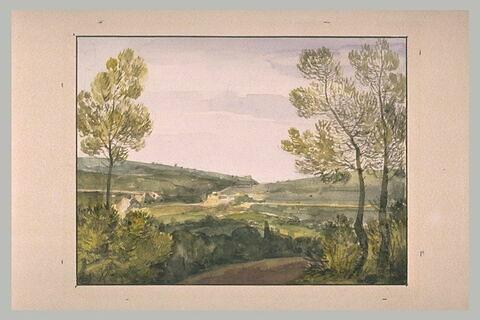 Vue d'une plaine prise aux environs de Versailles