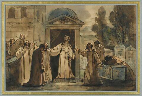 Le pape Saint Marcelin excommuniant Eudore