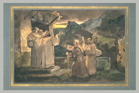 Saint François visitant Saint Dominique