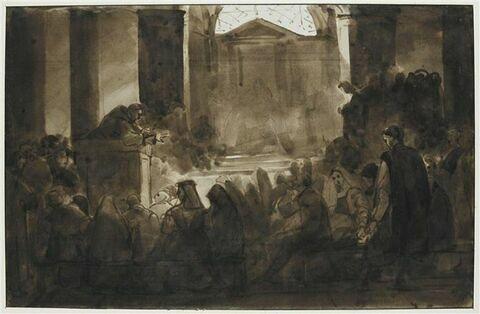 Sermon dans l'église de Santa Bibiana, à Rome