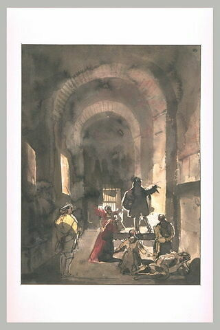Stella, peintre français, dans les prisons de Rome