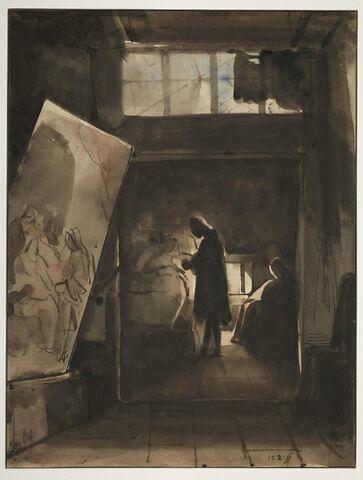 Jeune peintre malade dans son grenier à Paris