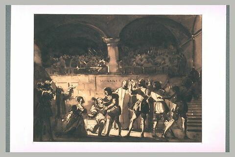 Projet d'un tableau tiré du drame d'Hernani, de Victor Hugo