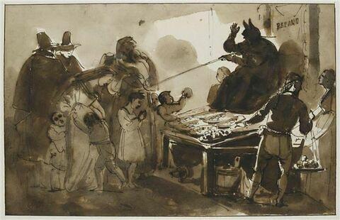 Scène de moeurs romaines, la Befana à Rome