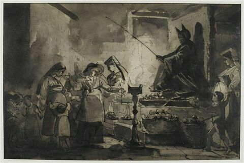 La Befana à Rome ; effet de nuit, sujet analogue au précédent