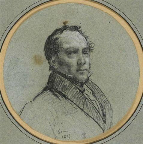M. Dejuinne, peintre d'histoire, vu en buste, de trois quarts