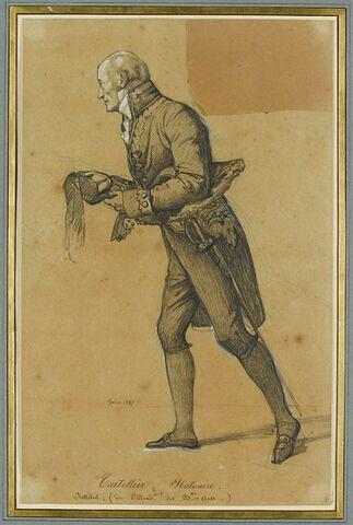 M. Cartellier, statuaire, tenant le cordon que le Roi vient de lui remettre