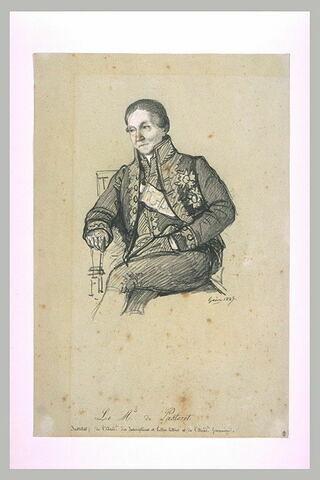 Le marquis de Pastoret, de l'Institut, en costume d'académicien