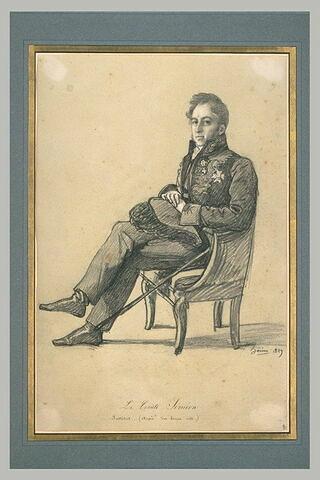 Le comte Siméon en costume d'académicien