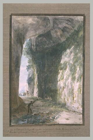 Intérieur de la grotte 'l'Oreille de Denys le Tyran' à Syracuse