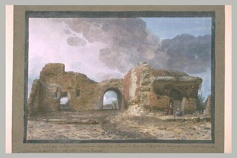 Ruines d'un édifice antique de Taormine
