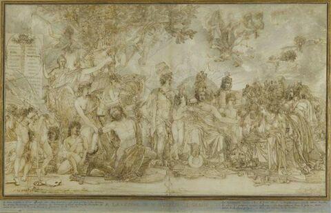 Allégorie à la gloire de Napoléon Ier en 1806