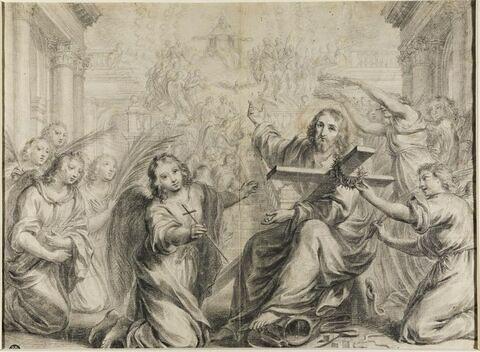 Les anges présentant au Christ les Instruments de la Passion
