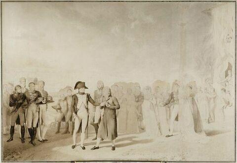 L'Empereur Napoléon visitant la manufacture de Jouy, 20 juin 1806